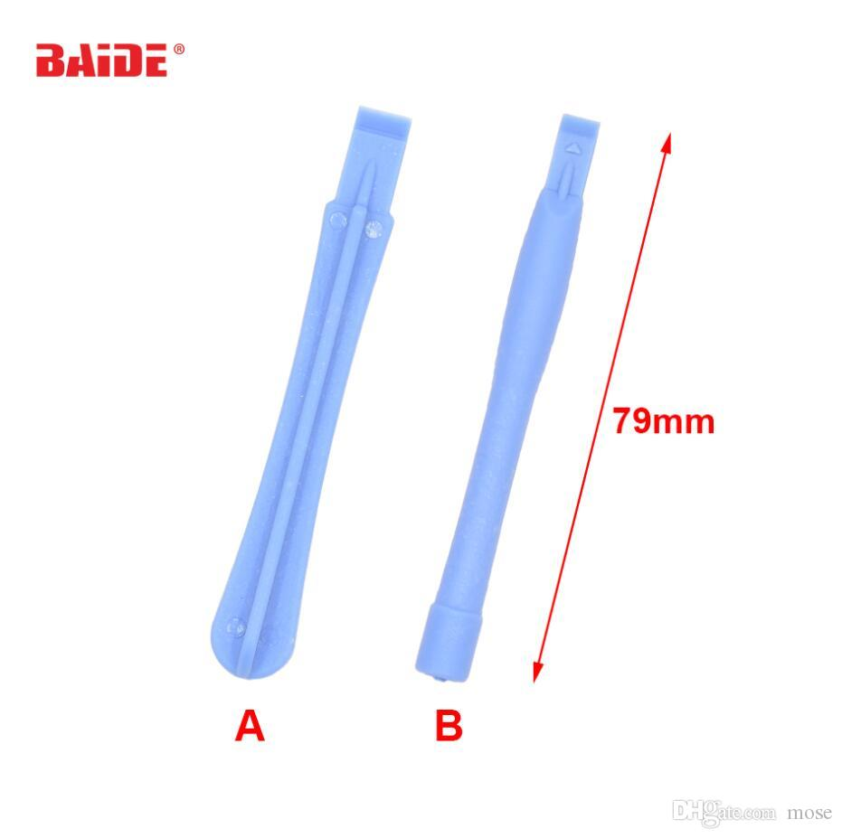 Plastic Light Blue Pry Tool Crowbar Open Shell Housing DIY Repair Tools for Cell Phone iPhone LCD Screen Opening