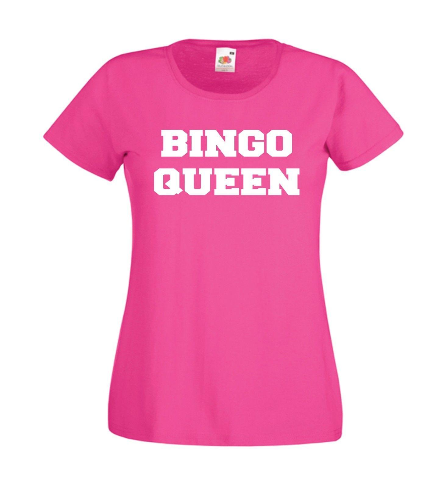 BINGO QUEEN Mothers Grandma Mum Christmas Birthday Gift Top Mens Womens T SHIRTFunny Unisex Casual Tshirt Shirt Quotes Dress From