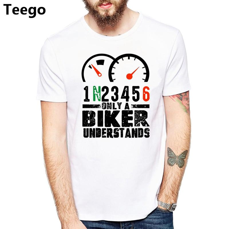 New Sleeve Print Men Motorcycle Gear Funny Biker T-Shirt New Style Mens Tee Shirt Slim Fit t shirts