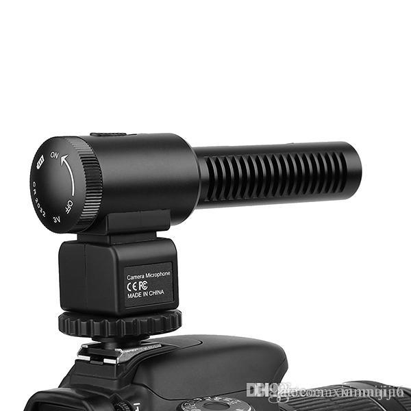 DSLR Camera Microphone Professional Photography Interview Wired Mic For Nikon Canon Record Video Studio Camcorder