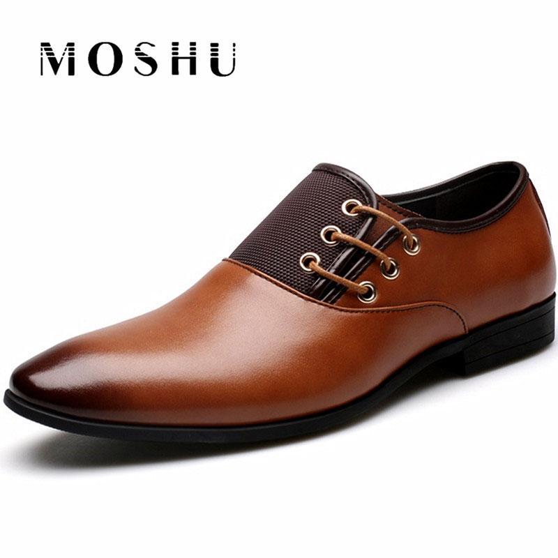090263d845 Compre Diseñador De Cuero Para Hombre Zapatos Casuales De Negocios  Caballero Pisos Con Cordones Oxford Tamaño Grande 38 47 Zapatos Hombre A   44.48 Del ...