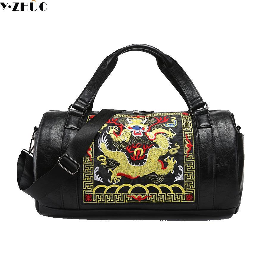 Chinesische Art Männer Reisetaschen Gepäck Wasserdichte Koffer Seesack große Kapazität Tasche lässig hohe Kapazität Leder Handtasche