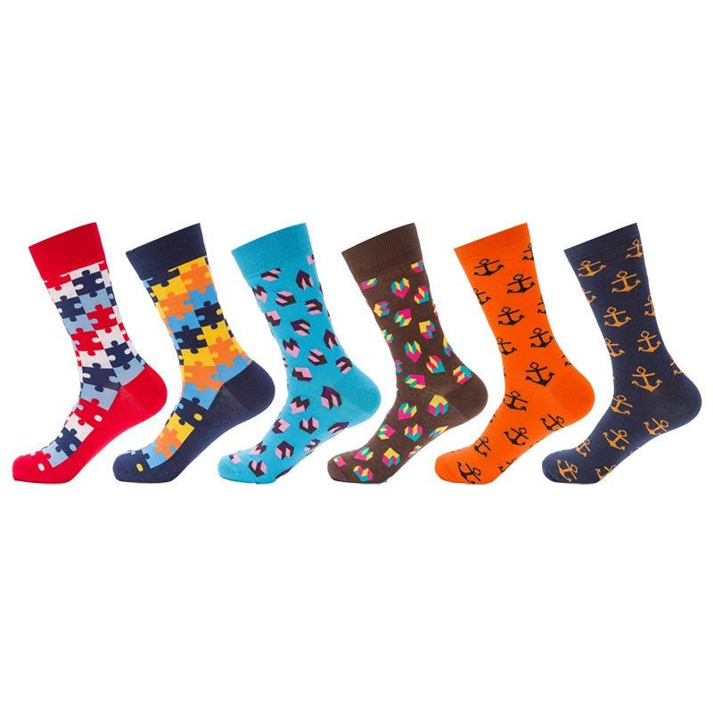 fce7fb3f1 2019 Casual Cotton Mens Happy Socks High Quality Colorful Funny Socks Men  Fashion Novelty Art Sock For Couple Long Sock From Whitecloth, $34.09 |  DHgate.Com
