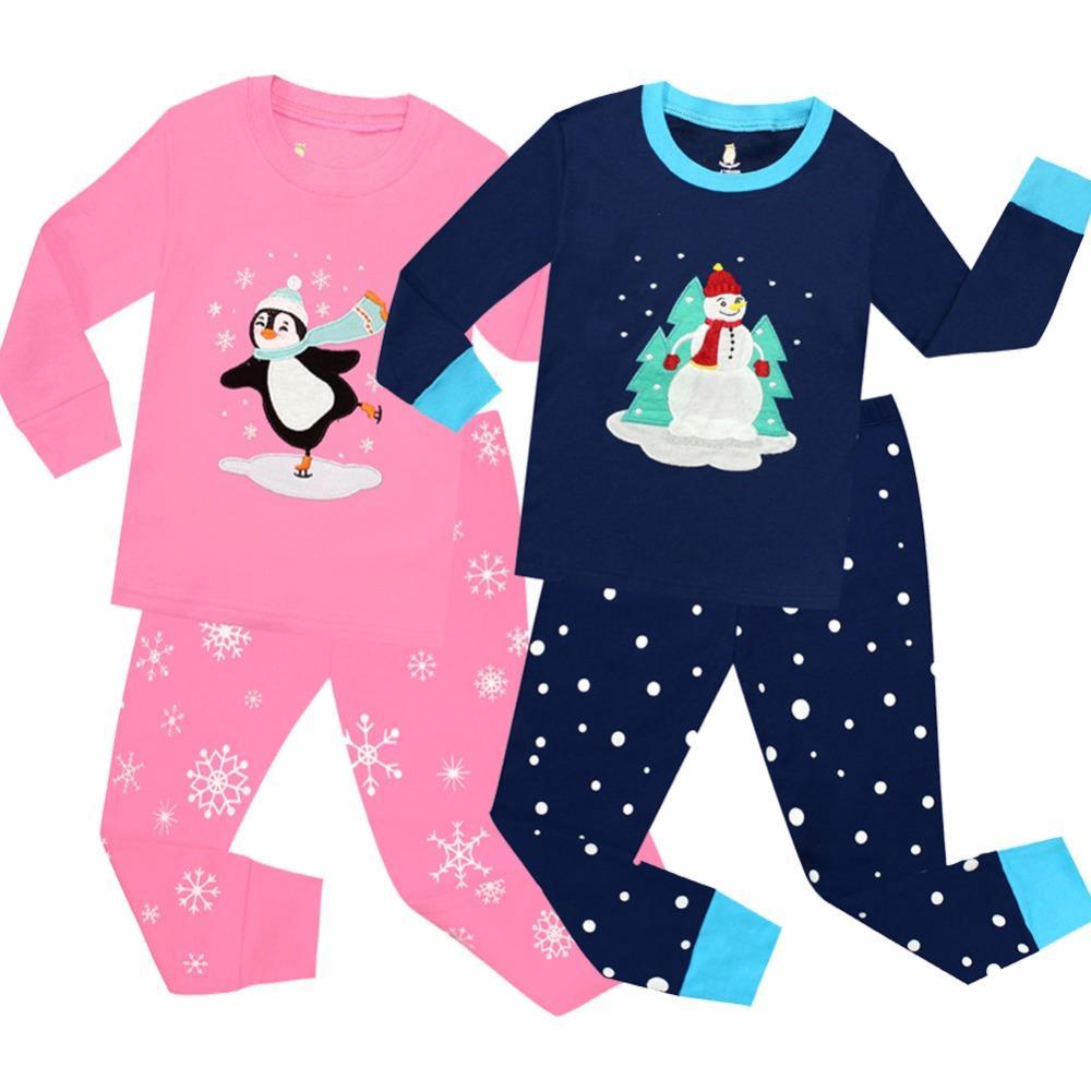 e5ce4bf9b4 New Boys And Girls Full Sleeve Cotton Christmas Pajamas Sets Kids Pyjamas  For 1 5Years Children Sleepwear Baby Nightwear Pjs Cool Pjs For Kids Kids  Matching ...