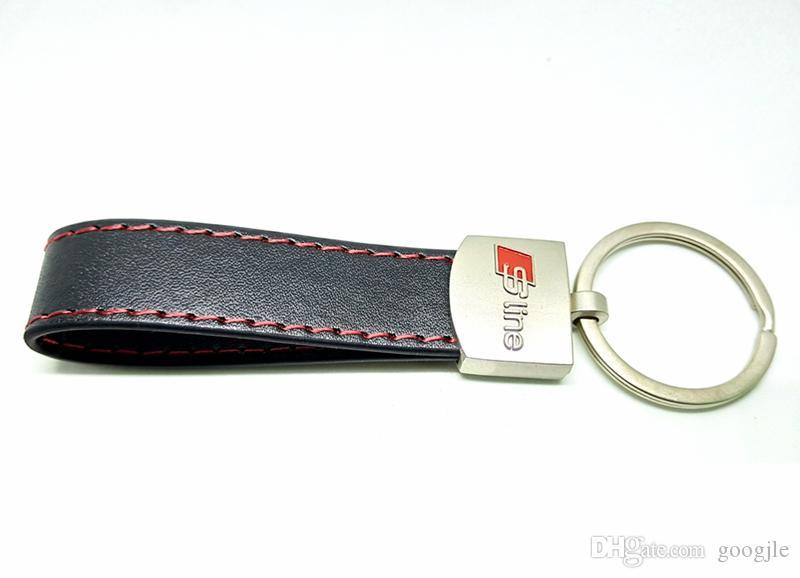 Кожа PU металлический брелок брелок брелок брелок брелок брелок держатель для Audi Sline S Line A3 A4 A5 A6 S3 S4 S5 RS Q3 Q5 Q7 хорошее качество