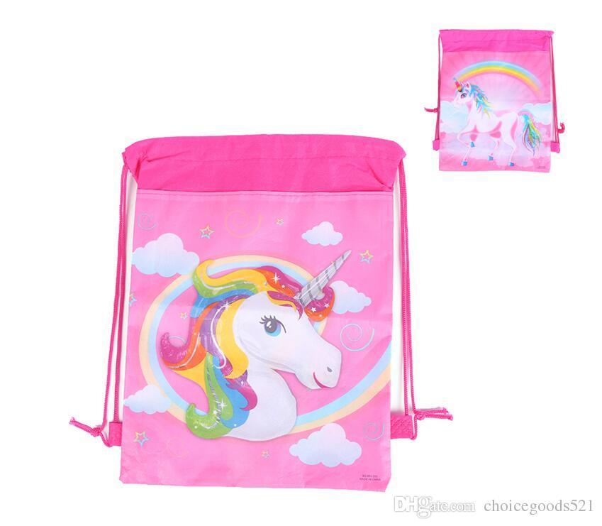 Unicorn Bag Kids Cartoon Unicorn Backpack Non Woven Children Unicorn
