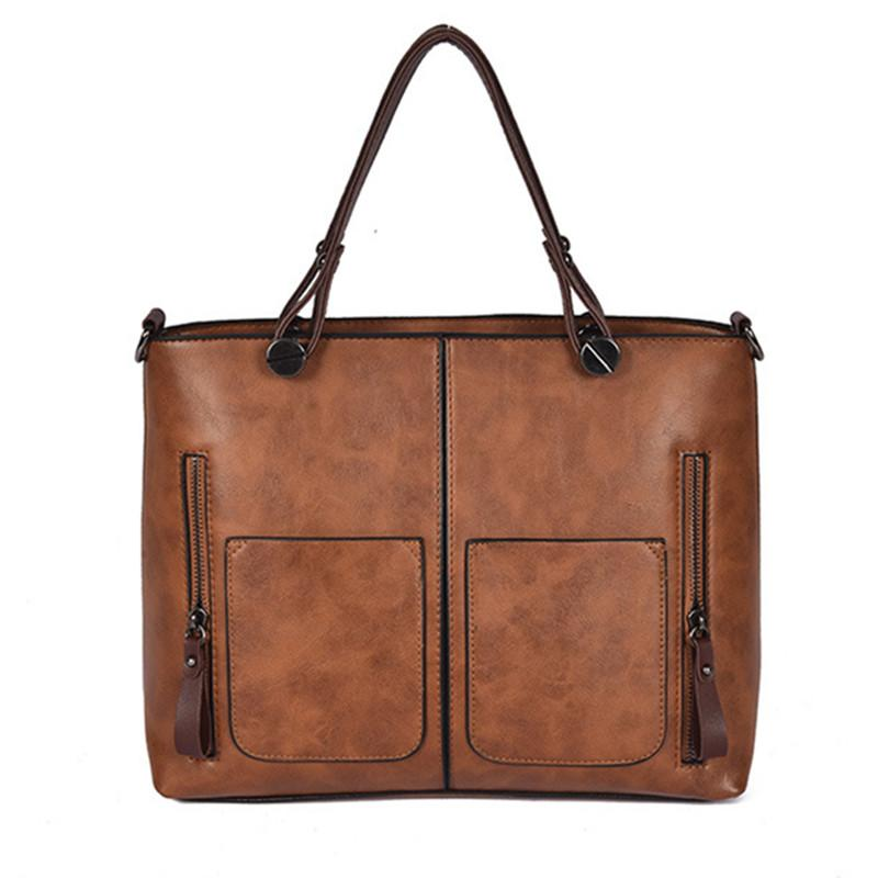 519a8312fbc Vintage PU Shoulder Bag Luxury Handbags Women Bags Female Causal ...