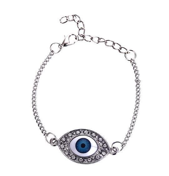 DHL New Crystal HAMSA Blue Evil Eye Pulseras Turcas Kabbalah Fatima Pulseras Brazalete Puños para Mujeres Joyería Regalo