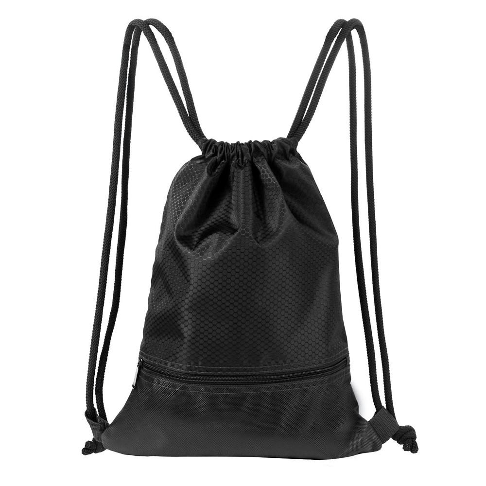 23935a5b100b Men & Women Sport Gym Sack Drawstring Backpack Bag (Black, red, blue,  green,navy blue, orange, gray, pink)
