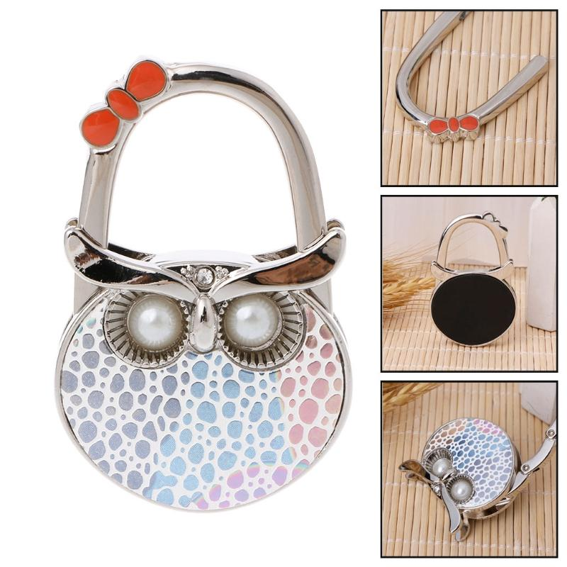 Keep You Fit All The Time Helpful Wholesales Item Butterfly Folding Hanger Holder Hook Handbag Bag Rhinestone silver