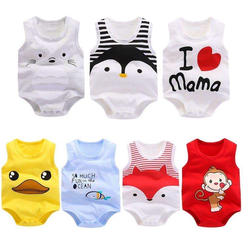 950fd5a90 2019 Cotton Newborn Baby Rompers Kids Bodysuit Romper Jumpsuit ...