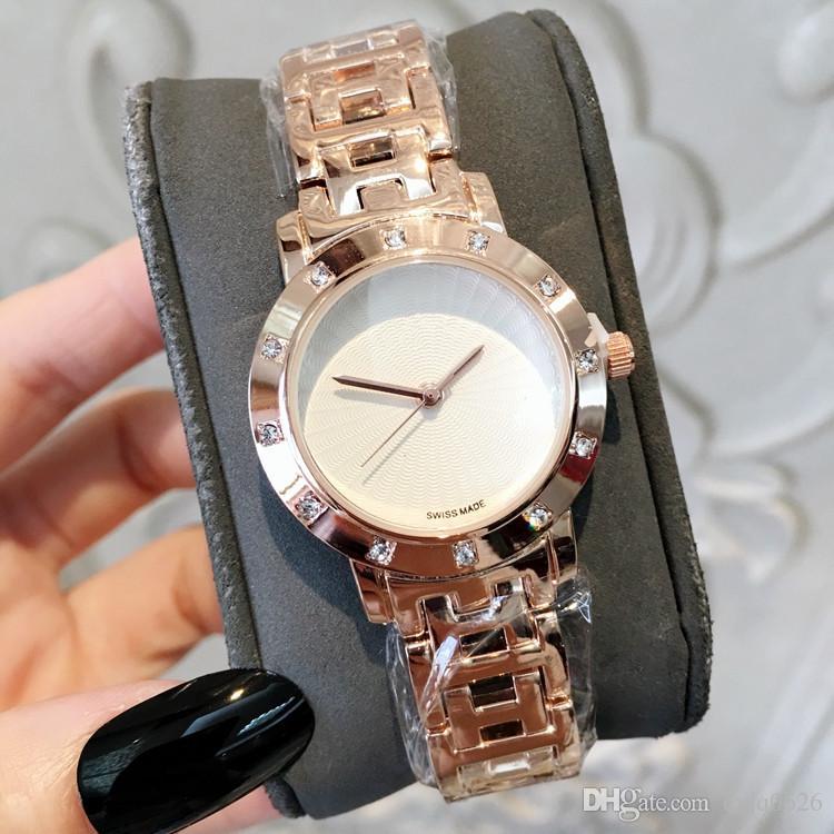 a4cb0a4b7461 Compre Hign Calidad Nueva Dama De La Moda Reloj Con Diamante De Lujo Reloj  De Pulsera De Acero Inoxidable Japón Movimiento Vestido Reloj Pulsera Venta  Al ...