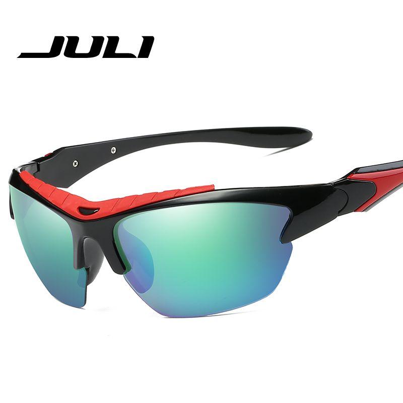 6e62ea51a2a JULI Retro Polarized Driving Sunglasses Men Half Frame Goggles Sun Glasses  Classic Brand Designer Travel Eyewear Oculos JL8524 Circle Sunglasses Glass  ...