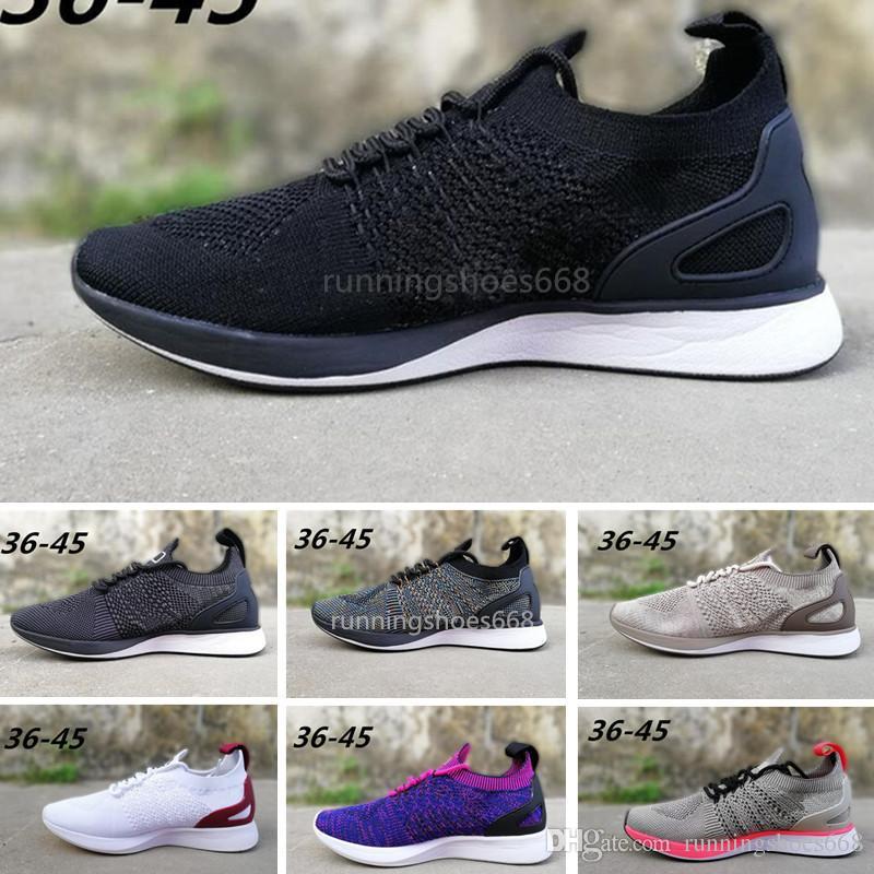 promo code 8577f c1700 Compre Nike Air Zoom Racer 2 Air Zoom Mariah Fly Racer 2 Mujeres Para Hombre  Athletic Todo Negro Rojo Verde Zapatos Casual Tejido AIR Zoom Racer  Zapatillas ...