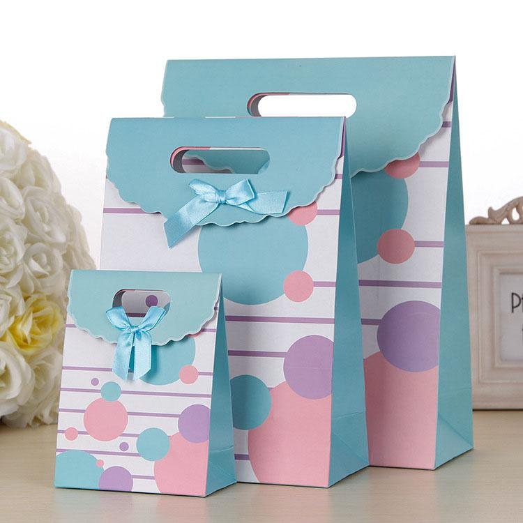economical nuts packaging bag accept custom colour printing cute kids gift paper tote personalized design festive promotional goodie bag
