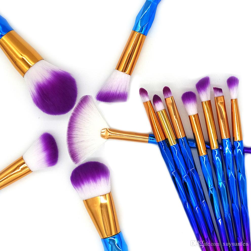 12 unicornios Pinceles de Maquillaje Set Pinceles para Herramienta de Pincel de Maquillaje Diamante Fundación Profesional Powder Eye Shadow