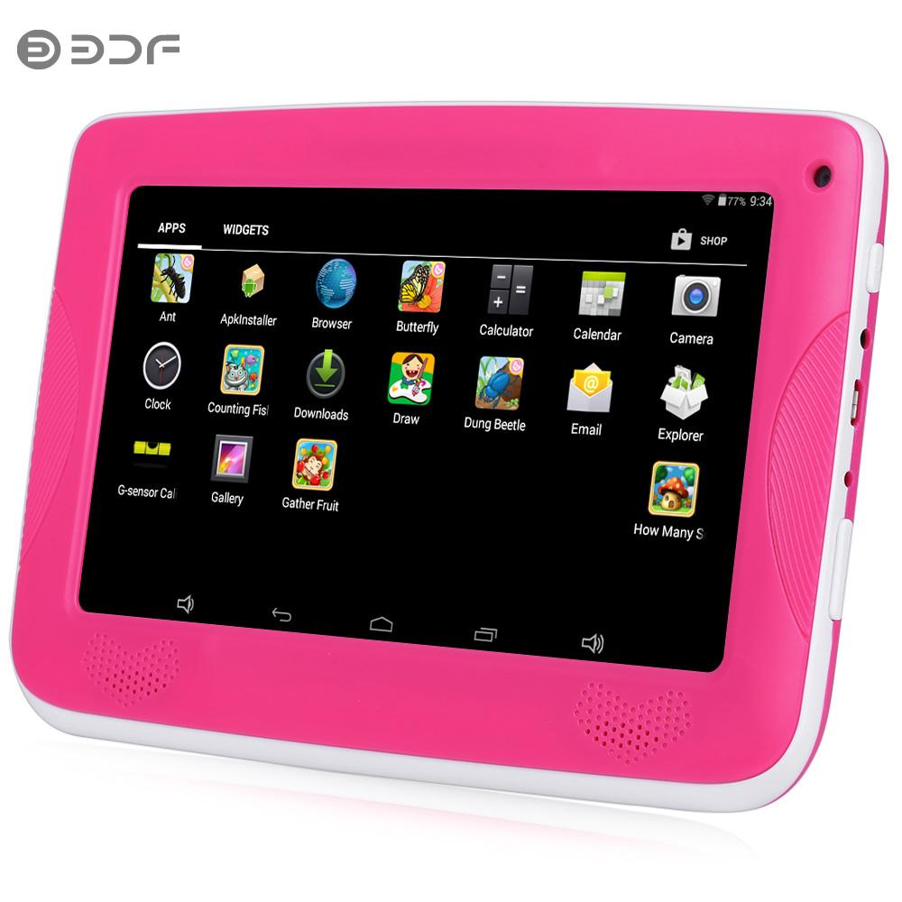 Computer & Office Bdf New Design 7 Inch Tablet For Baby Children Gift Game Apps Android 4.4 Wifi Dual Camera Quad Core Tablet Pc 7 8 9 10 10.