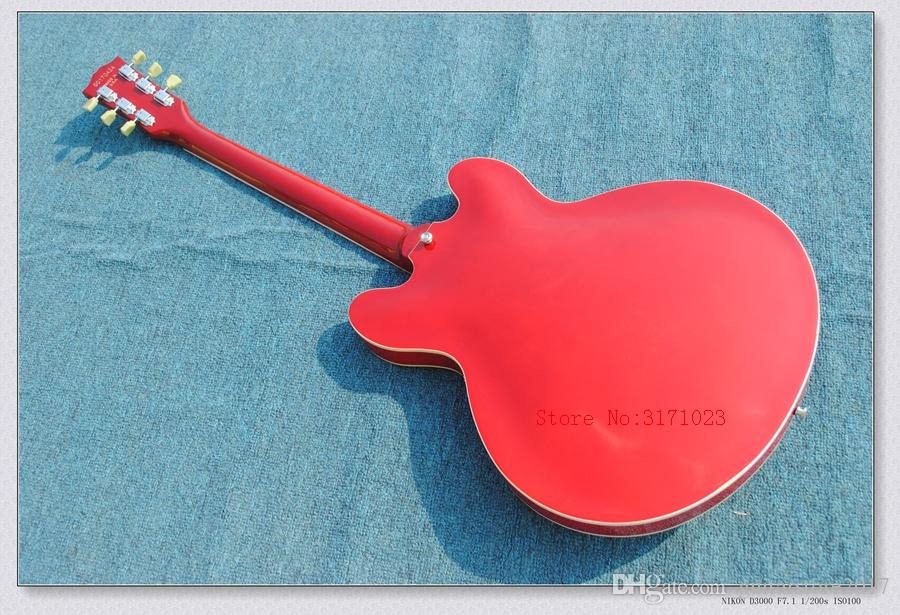Wholesale - new arrival red 335 JAZZ Semi Hollow electric guitar mahogany body