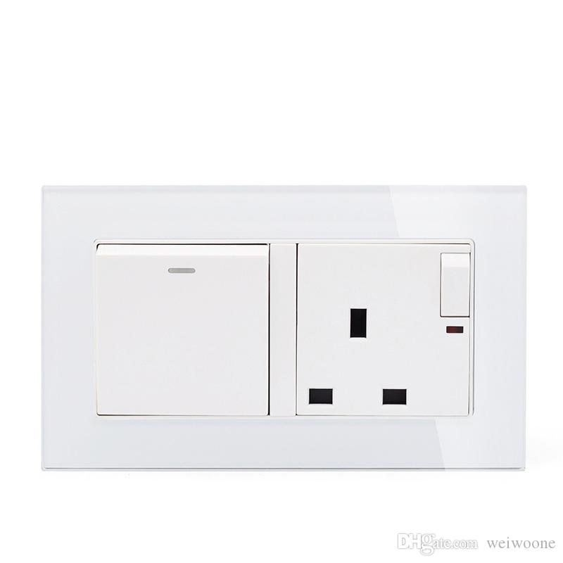 2019 Uk Standard 1 Gang 2 Way Wall Switch With 3 Pin Wall Socket And 146 86mm 13a Socket With