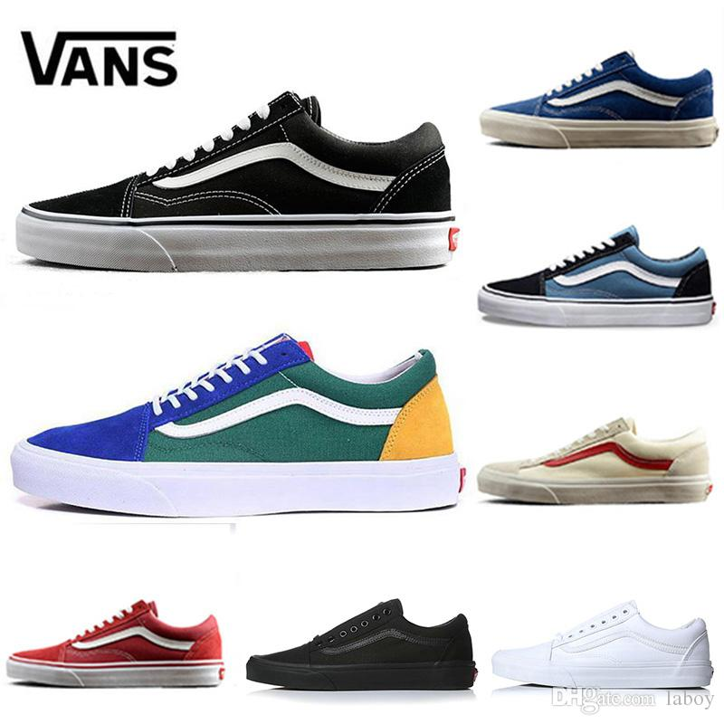 04bbaf3f9 Compre Fear Of God Vans Canvas Off White 2018 Old Skool Sharktooth Hombres  Mujeres Zapatos Casuales Rock Flame Yacht Club Peanuts Monopatín Lona  Deportes ...