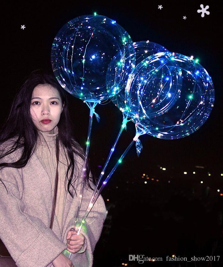 Heißer leuchtender LED-Luftballon klarer BOBO-Ball-Blasen-Ballon mit geführtem Streifen-Kupferdraht für Geburtstags-Unkrautjäten-Weihnachtsspielwaren