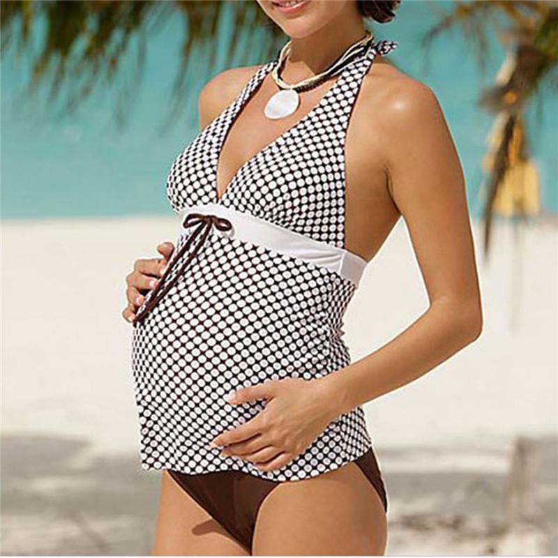 Mujeres De Las Playa 1 Pc Ropa Traje Baño Embarazadas Para Bikinis Embarazada Maternidad 2018 lJc1FKT
