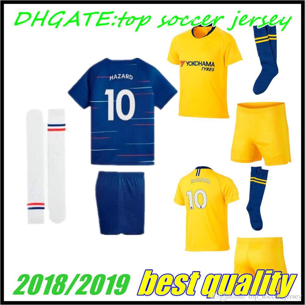 2018 Home Away Kids Jersey 18 19 Child MORATA FABREGAS OSCAR HAZARD ... 21857f627