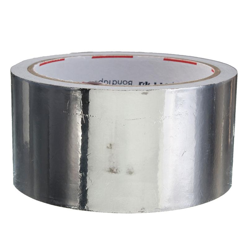Mayitr Silver Aluminium Foil Adhesive Sealing Tape Thermal Resist Duct Repairs High Temperature Resistant Foil Adhesive Tape