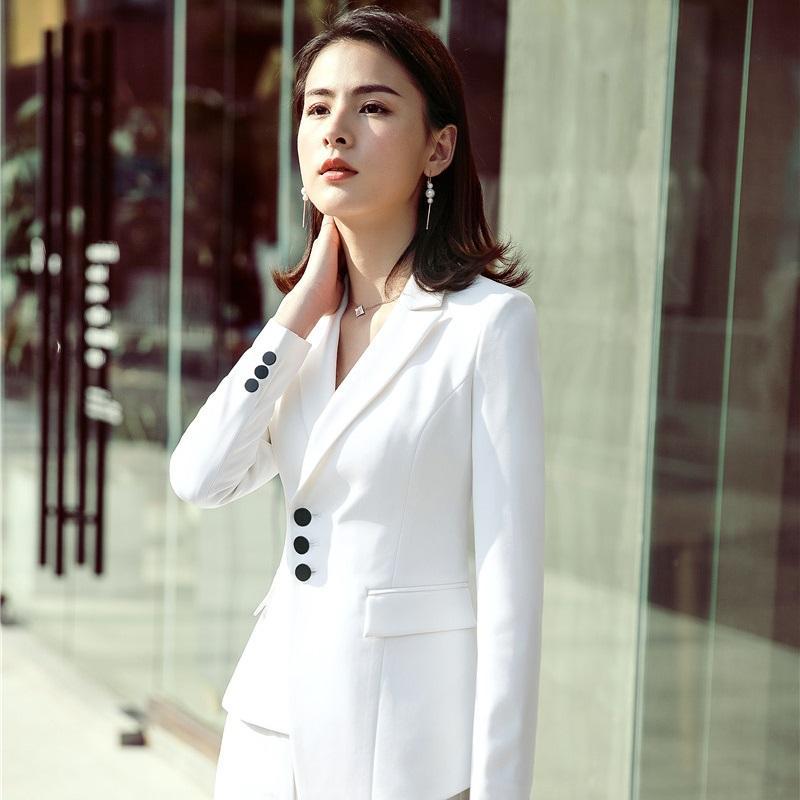 2836ca70597ea7 2019 2018 New Styles Novelty White Fashion Irregular Blazers Coat Women  Work Wear Jackets Female Outwear Ladies Office Tops Clothes From Yukime, ...