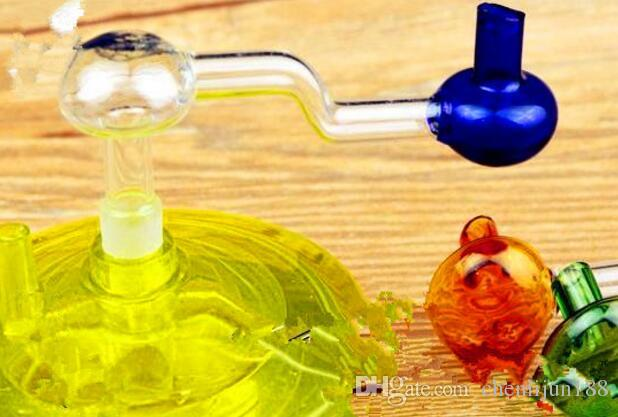 Double mushroom small pot Wholesale Glass Hookah, Glass Water Pipe Fittings,
