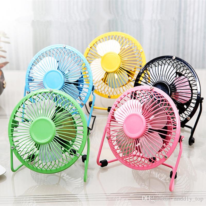 USB Electric Metal Head Fan 360 Rotate Metel Mute Radiator Fans Mini Portable Cooler Cooling Desktop Power PC Laptop Desk Fan