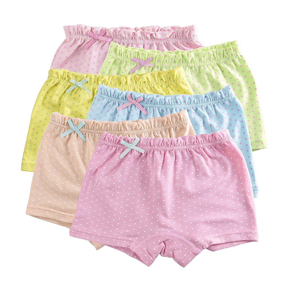 c5141cc77 Compre Crianças Meninas Roupa Interior Para O Bebê Calcinha Roupas Infantis  Doces Dot Cores Meninas Boxer Material De Algodão Respirável 5 Pçs   Lote De  ...