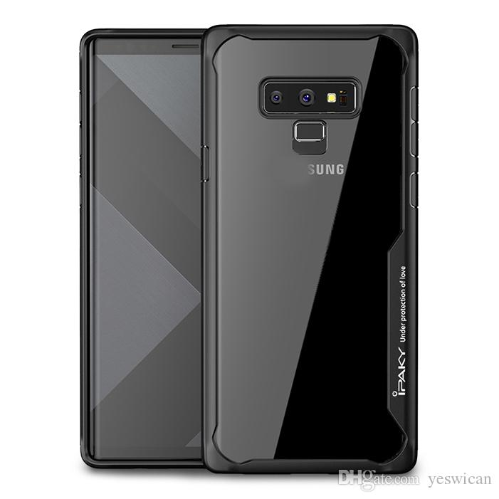 quality design 5fc04 8a7cf iPaky Case For Samsung Galaxy Note 9 Note9 Transparent Back Cover PC TPU  Drop-proof Hard Soft Cases With Retail Package In Stock Wholesale