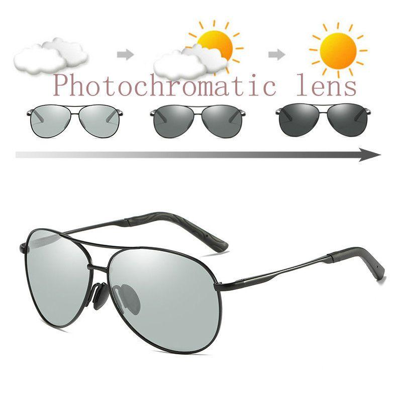 e44bcfbc236 ZJHZQZ Polarized Photochromic Sunglasses UV400 Mens Gun Metal Driving  Fishing Sunglasses Transition Lens Pilot Sun Glasses New Glasses Online  Polarized ...