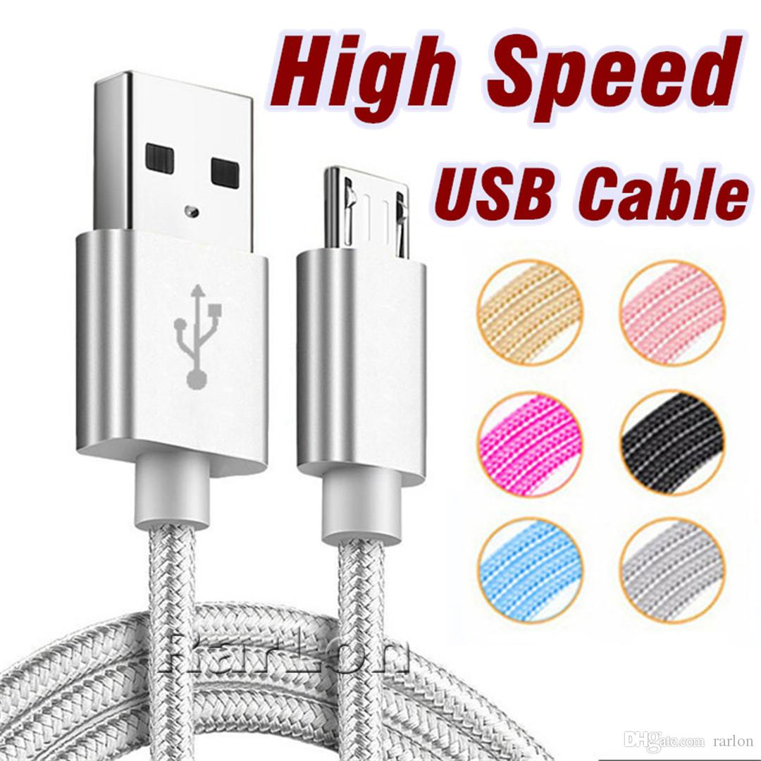 High Speed Charger Micro USB Cable Metal Housing Braided Durable USB Type C  Cable for Android Type-C Devices