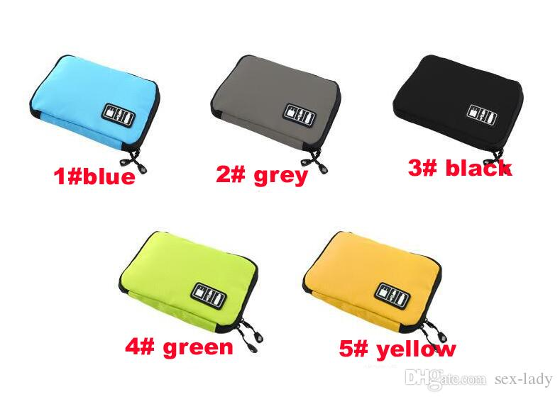 New Arrival Bubm Hard Drive Earphone Cables Usb Flash Drives Storage Travel Case Digital Cable Organizer Bag DHL Free