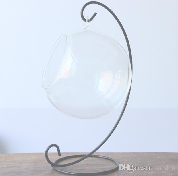 Ornamento carrinho de exposição, Ferro de suspensão Stand Holder rack para pendurar Glass Globe Air planta Terrário, Bola de bruxa, e Wedding Decoração Home