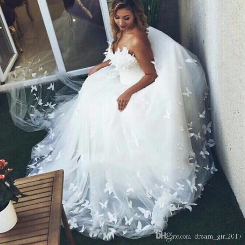 Nach Maß die Schulter Spitze Appliqued Tüll Brautkleider 2018 Romantische Schatz Ballkleid Brautkleid Plus Größe Vestidos