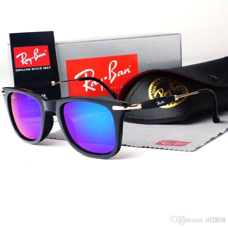 6ed2424c31 Compre Moda Clásico Gafas De Sol De Color Degradado Hombres Mujeres Diseño  De Marca Gafas De Sol Mejor Espejo Gafas De Sol Lentes Cool Con Estuches A  $17.25 ...