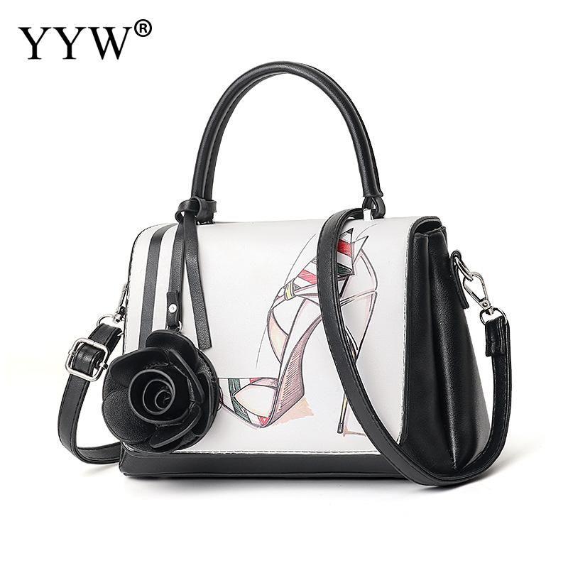 8efaec6f56 Eleganti borse donna nuovo profumo tacchi alti scarpa stampa floreale  superiore maniglia borse a mano partito borsa a tracolla grande capacità  tote