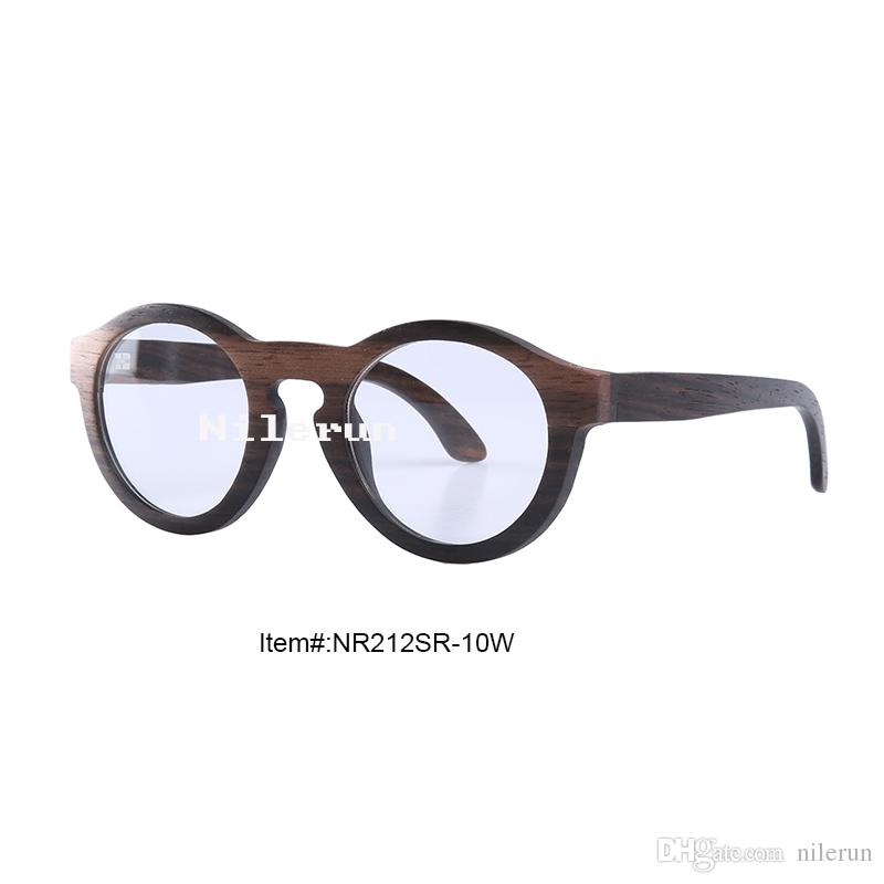 b40687fd3a Vintage Antique Cat Eye Round Ebony Wood Frame Optical Eyeglasses ...
