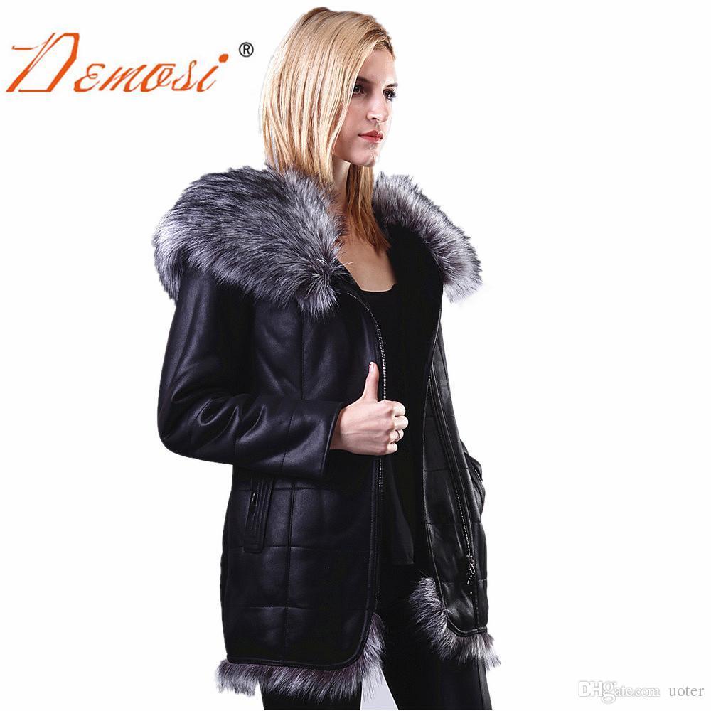 a19f268dfc3 2019 Wholesale Plus Size S 7XL Fashion Slim Women Winter Jacket Fox Fur  Collar Long Fur Jacket High Quality Faux Sheepskin Coat Suede Jackets From  Uoter