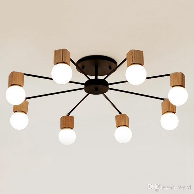 Lustres En Ac100 Salon Enfants Livraison Pour 240v Lampe Gratuite Plafonniers Bois Plafon De Moderne Sala Chambre Plafond Creative 0NnPX8ZOwk