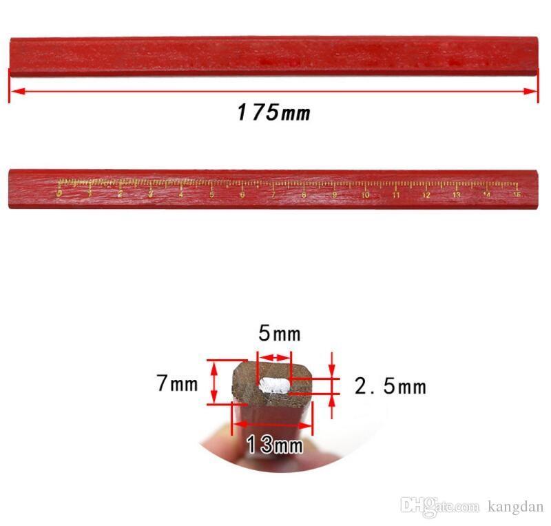 HB Liso Escrita Lápis Lápis de Carpinteiro Lápis Diy Ferramenta de Artesanato Papelaria de propósito Especial de boa qualidade Lápis de chumbo com régua