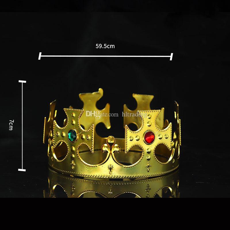 Fiesta Cosplay Corona Rey Reina Princesa diamante real gema corona niños adultos corona sombreros halloween navidad Accesorios para el cabello C4239
