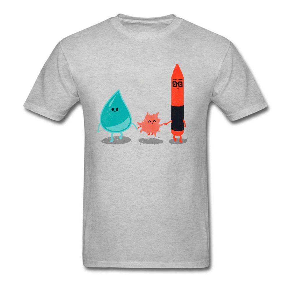 Compre Color Del Agua Divertido 2018 Hombres Camisetas Diseño Personalizado De  Dibujos Animados Familia Camisetas De Manga Corta Camisetas Algodón ... ee948d902efeb