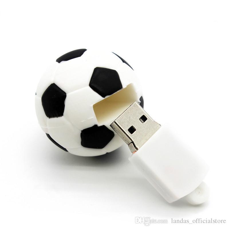 NEW real capcity cartoon football pendrive usb flash drive 4GB 8GB 16GB 32GB football pen drive gift usb stick