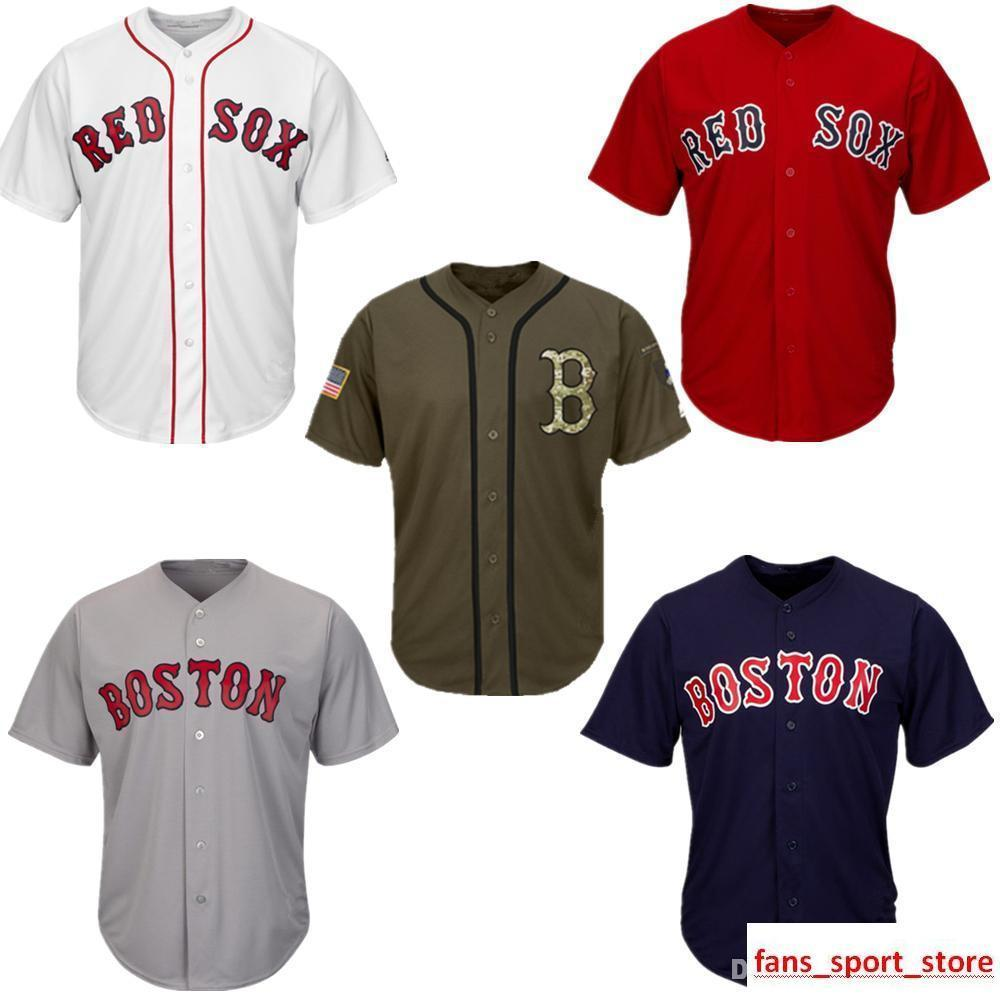half off 82f72 7a375 2019 Men Women Youth Red Sox Jerseys Blank Jersey Baseball Jersey No Name  No Number White Gray Grey Navy Blue Red Green Salute to Service