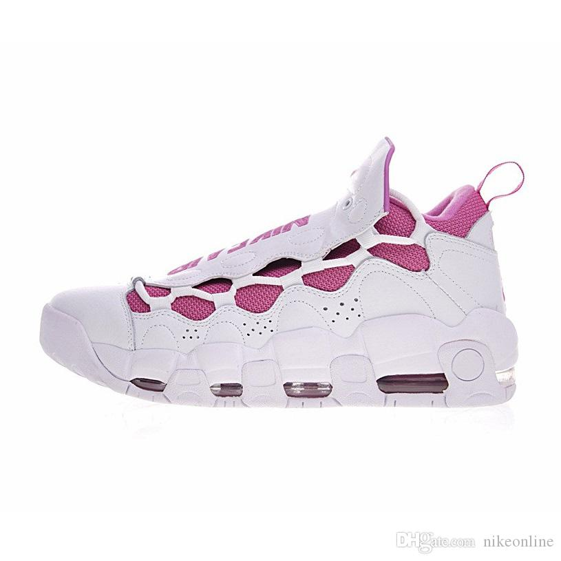 971f5cd6621 2019 Womens Air More Money QS GS X Sneaker Room Kay Yow Think Pink Aunt  Pearl LA Los Angeles NYC New York City Youth Kids Ladies Basketball Shoes  From ...