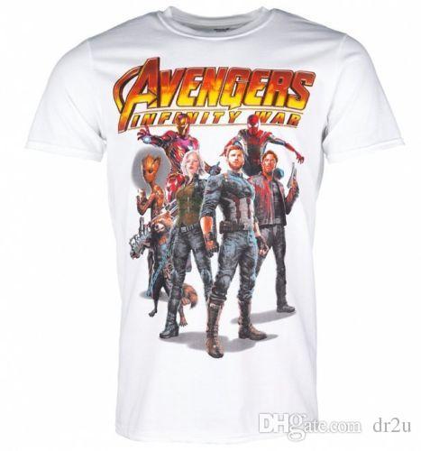 a683d8bf Official Men'S White Avengers Infinity War Group T Shirt Order T ...